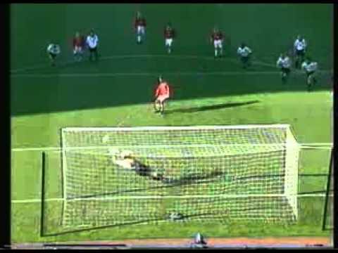 Mart Poom penalty save against Manchester United&Teddy Sheringham