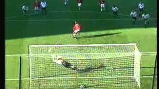 Mart Poom penalty save against Manchester United&Teddy Sheringham