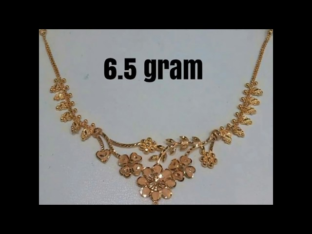 Light Weight| Gold Necklace Design with weight