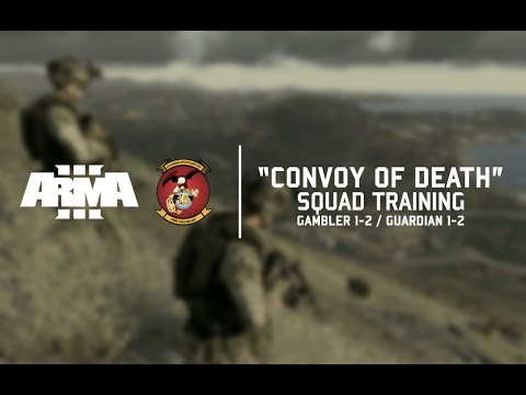 CONVOY OF DEATH - 15th MEU Gambler 1-2 Squad Training // Arma 3 CO-OP Gameplay