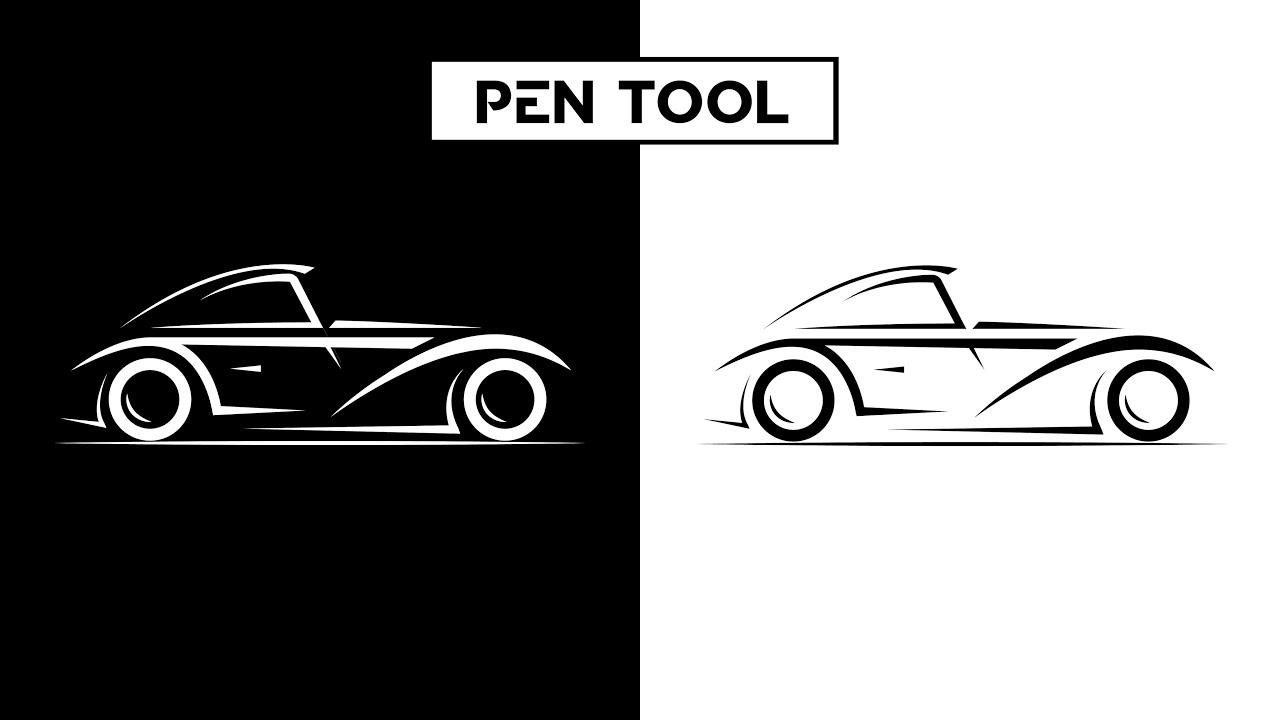 Car Vector illustration   Using PEN Tool - Adobe Illustrator tutorial