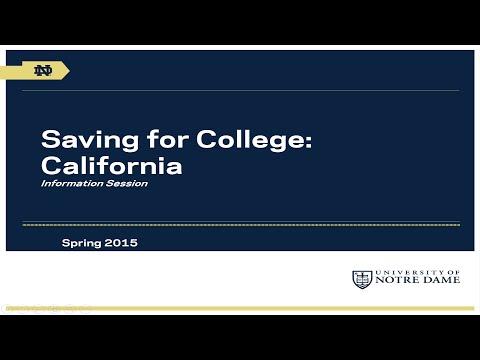 University of Notre Dame Saving for College Program: California Webinar