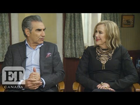 On The Set Of 'Schitt's Creek' With Eugene Levy, Catherine O'Hara, Dan Levy