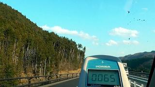 計測日2017年3月29日 国道115号線から 阿武隈東道路 相馬山上―相馬玉野IC