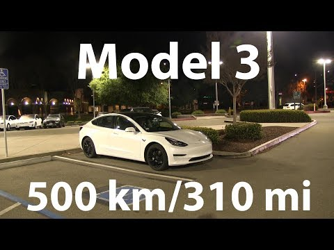 Model 3 drove 500 km/310 mi in a single charge