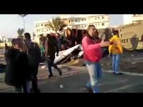 وفاة 22 معظمهم فتيات في حادث مروع بطريق #بورسعيد – #دمياط.. فعلا عمل شبكة طرف مسكة #مصر 💪