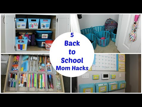 5 BACK TO SCHOOL MOM HACKS TO STAY ORGANIZED FOR THE SCHOOL YEAR -COLLAB