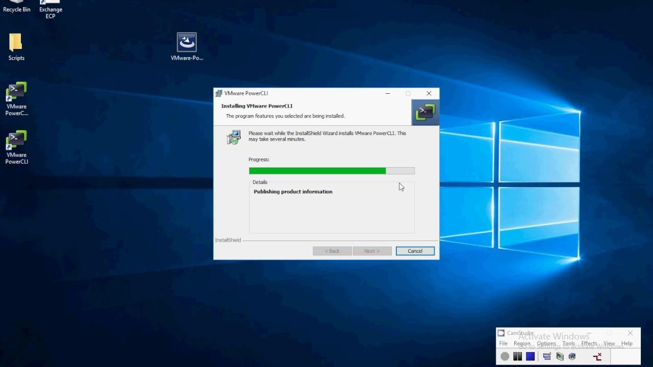 Install VMware PowerShell Module PowerCLI On Windows Server 2016
