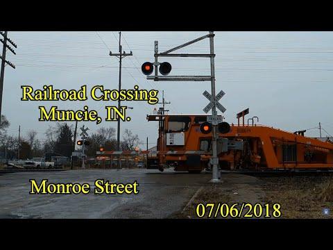 Railroad Crossing: Monroe Street in Muncie, IN., CSX Main Tracks 1&2/ NS Main 1
