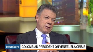 Colombia's Santos on Venezuela, Trump, Drugs, Oil