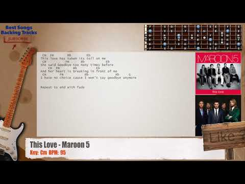 This Love Maroon 5 Guitar Backing Track With Chords And Lyrics