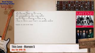 This Love - Maroon 5 Guitar Backing Track with chords and lyrics