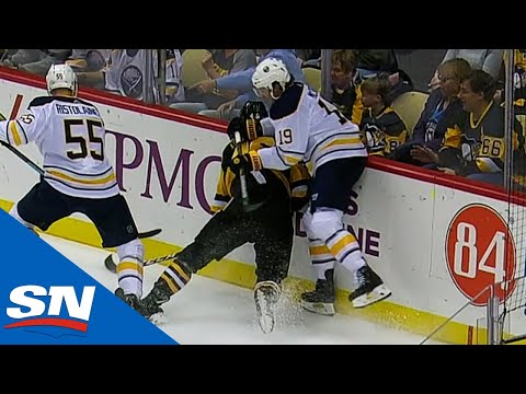 Jake McCabe's Dangerous Hit On Zach Aston-Reese Causes Fight With Riley Sheahan