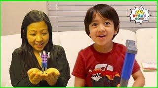 Download Ryan Pretend Play with Small Mommy and Daddy story!!! Mp3 and Videos