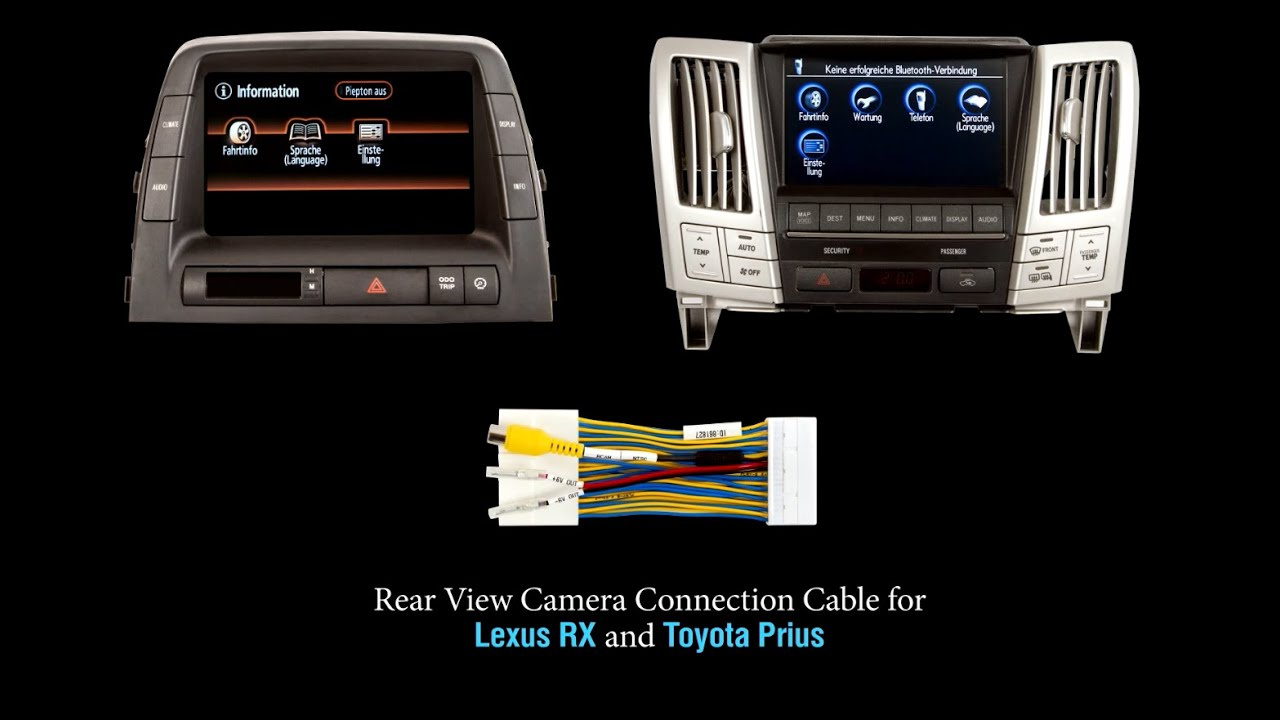 Connect Rear View Camera In Lexus Rx And Toyota Prius With Cable Night Vision Wiring Diagram