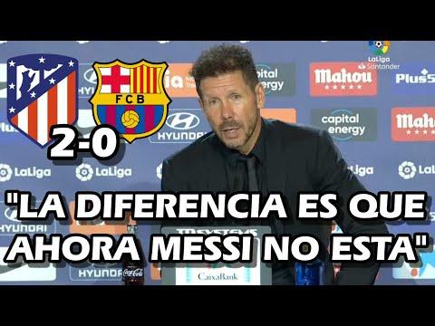 DECLARACIONES DE 'CHOLO' SIMEONE EN RUEDA DE PRENSA TRAS VICTORIA ATLETICO DE MADRID 2-0 BARCELONA