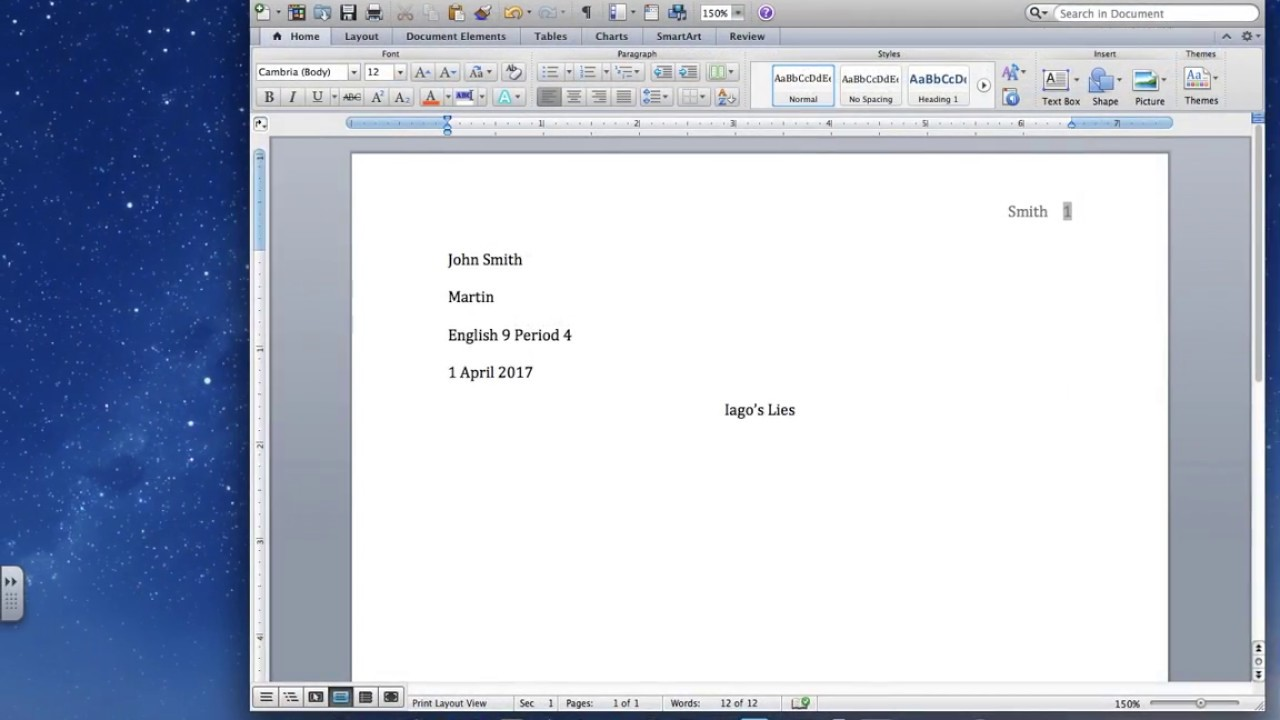 how to set up your paper in mla format