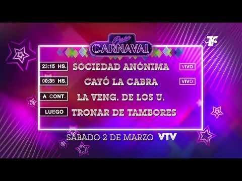 Agenda Carnaval – Sábado 2 de Marzo