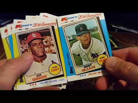 1982 Topps Kmart Baseball Cards Touring A Landmark Boxed Set