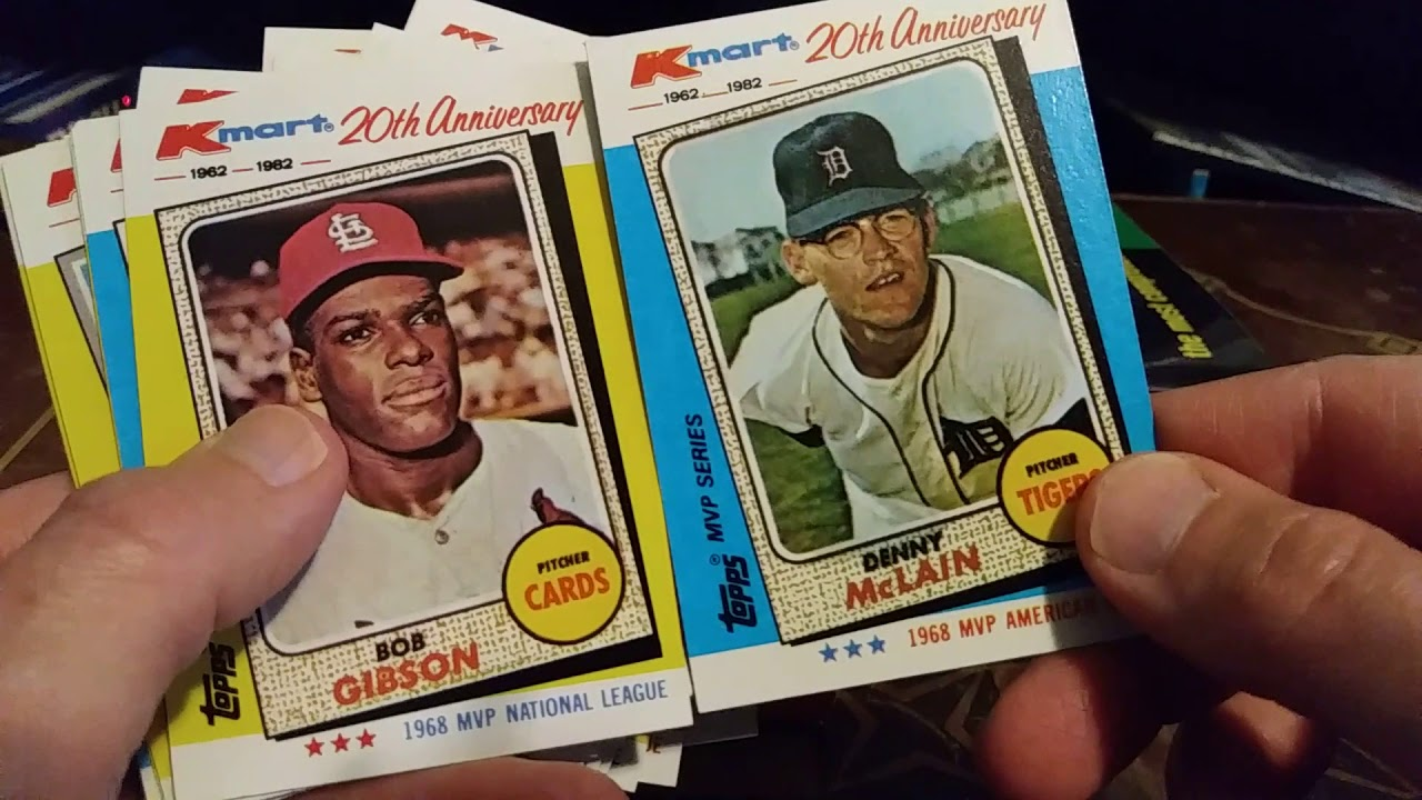 1982 Topps Kmart Baseball Cards Touring A Landmark Boxed Set