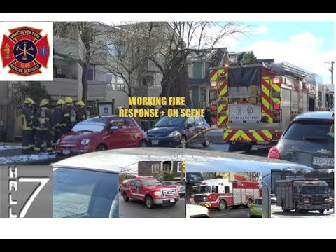 Working Apartment Fire - Vancouver BC