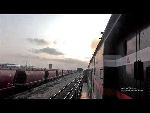 Pakistani Train Departing Karachi | Inside Engine View