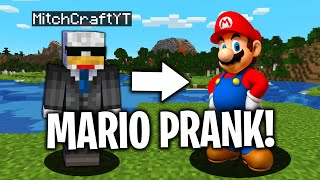 MARIO.exe PRANK in Minecraft... *THEY FREAKED* (Minecraft Trolling Video)