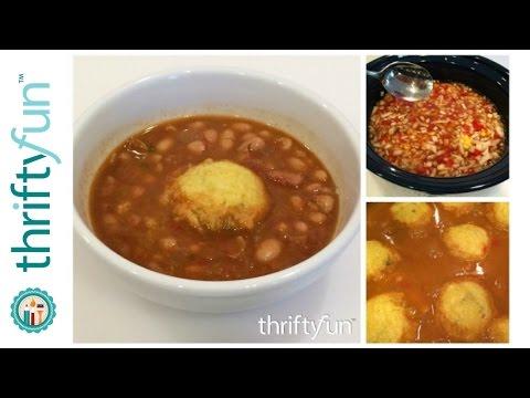 Pinto Bean Stew With Cornbread Dumplings