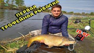 ВЕСЕННИЙ КЛЁВ КАРПА ПЕРВЫЕ ТРОФЕИ рыбалка на деревенском пруду Воронеж 2020