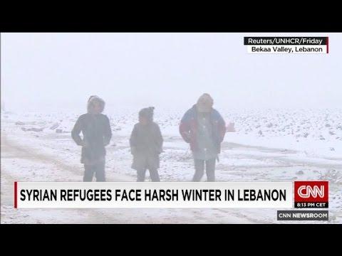 Syrian refugees face harsh winter in Lebanon