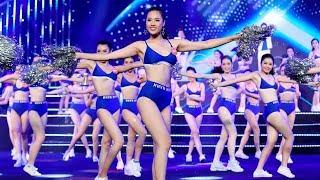Mắt Nai Cha Cha Cha - Nhóm The Wings cùng Top 43 Hoa hậu đồng diễn bikini thể thao