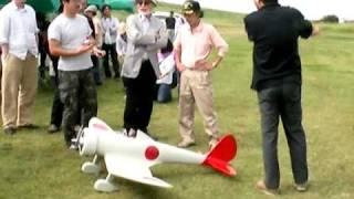 アルカス大橋さんの機体を見学に宮崎監督と石坂浩二さんがいらっしゃい...