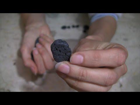 ASMR Smooth Black Lava Rocks from Hawaii
