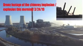 Brayton Point Power Plant Implosion Demolition Drone footage. With Police audio and Flyover at end