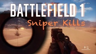 Battlefield 1 Beta - Sniper kills Montage