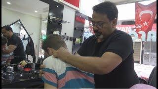 ASMR Turkish Barber Face,Head and Body Massage 154