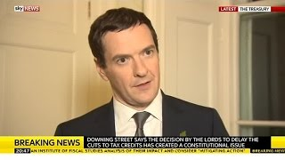 George Osborne Reacts To Government