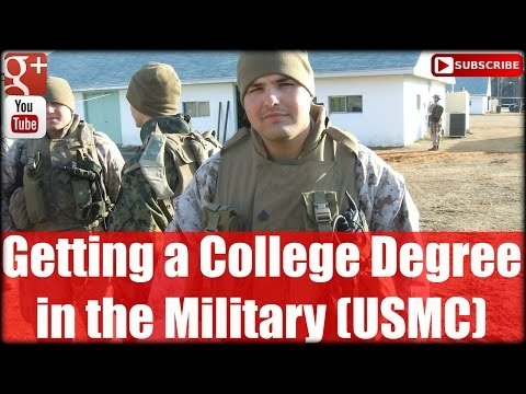 Getting a College Degree in the Military (USMC)