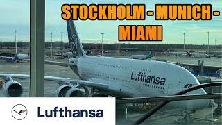 Stockholm ✈ Munich ✈ Miami | Lufthansa | Airbus A380 & A320 ✈ TRIP REPORT (#51)