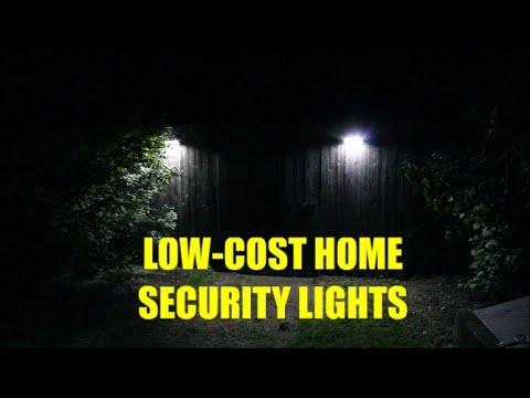 Low-Cost Home Security Lights: Motion Detector, 400 Lumen Output, Easy To Install