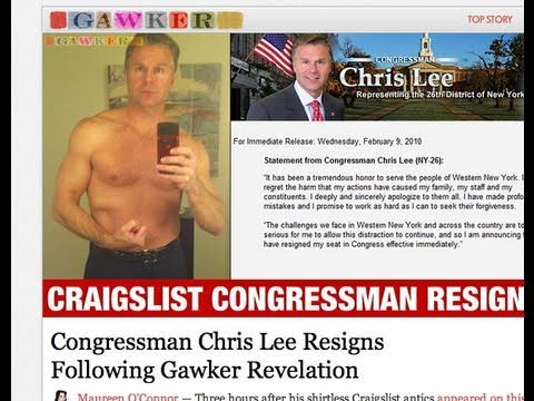 Chris Lee Resigns: Sex Scandal - Gawker, Deadspin, And Democrats