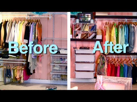 Perfect Makeover Wire Closet (Container Store Inspired) BUDGET   YouTube