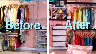 Makeover Wire Closet (container Store Inspired) Budget