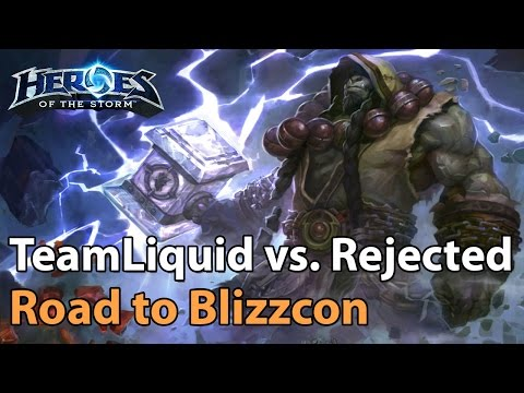 ► Heroes of the Storm Pro Gameplay: TeamLiquid vs. The Rejected - Road to Blizzcon