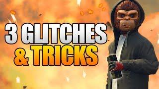 GTA 5 Online - 3 NEW GLITCHES & TRICKS! (Unlimited Ammo, Funny Kill Glitch & Secret Garage Glitch)