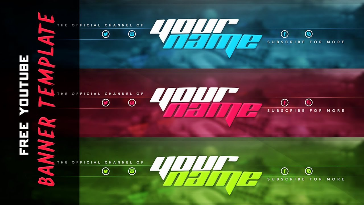 New Youtube Banner Template 2015