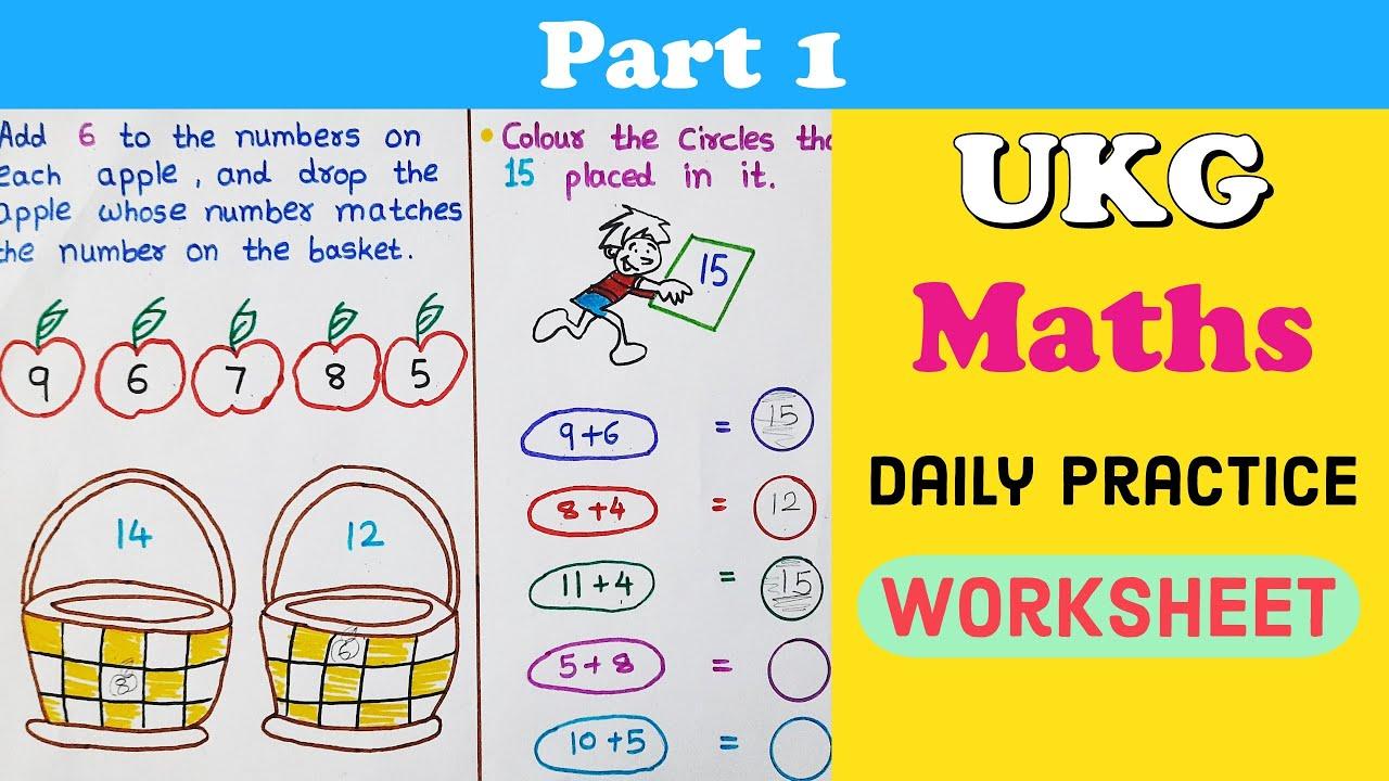 Daily Practice Worksheets For Ukg Ukg Maths Worksheet Maths Worksheet For Ukg Ukg Latest Syllabus Youtube Free download ukg worksheets