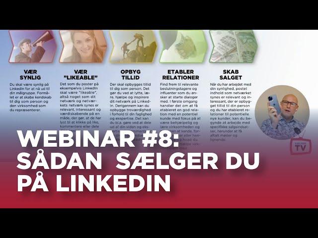 Sælger TV webinar #8: Sådan sælger du på LinkedIn (og derfor skal du fortsætte med klassisk salg)