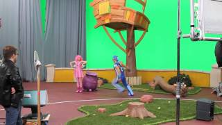 LazyTown Bing Bang behind the scenes with Chloe Lang Season 4