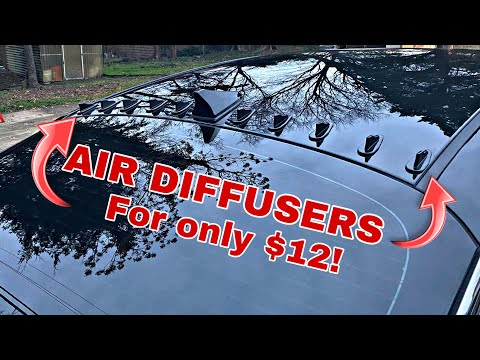 Installing Air Diffusers/Shark Fins On The Roof!! (Cheap & Easy!)